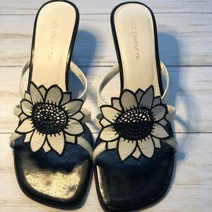 Liz Claiborne Black & White Sandals